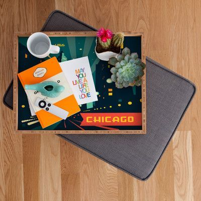 DENY Designs Anderson Design Group Chicago Mag Mile Rectangular Tray Size: Extra Large