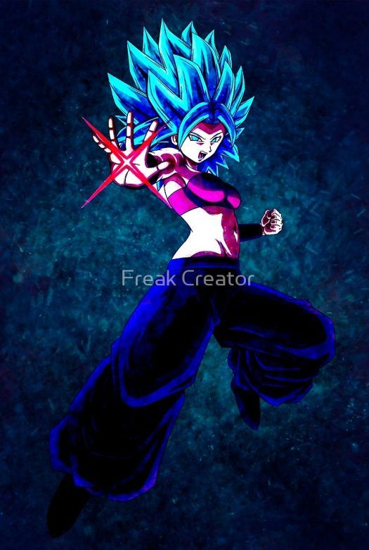 "Design ""Aura warrior girl"" inspired by Caulifla Dragon ball super. For sale in a… 