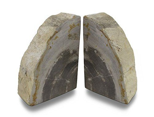 Indonesian Light Colored Petrified Wood Bookends 68 Pounds * This is an Amazon Affiliate link. See this great product.