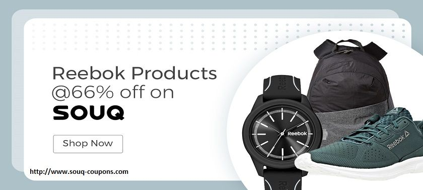 Souq Coupon offers 66% off on Reebok Products such as Bags