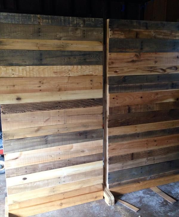 Rustic Room Divider Google Search Diy Pallet Room