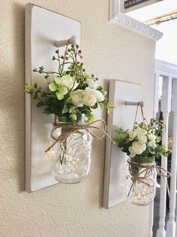 Photo of Rustc Einmachglas mit Blumen für Farmhou … – Blog