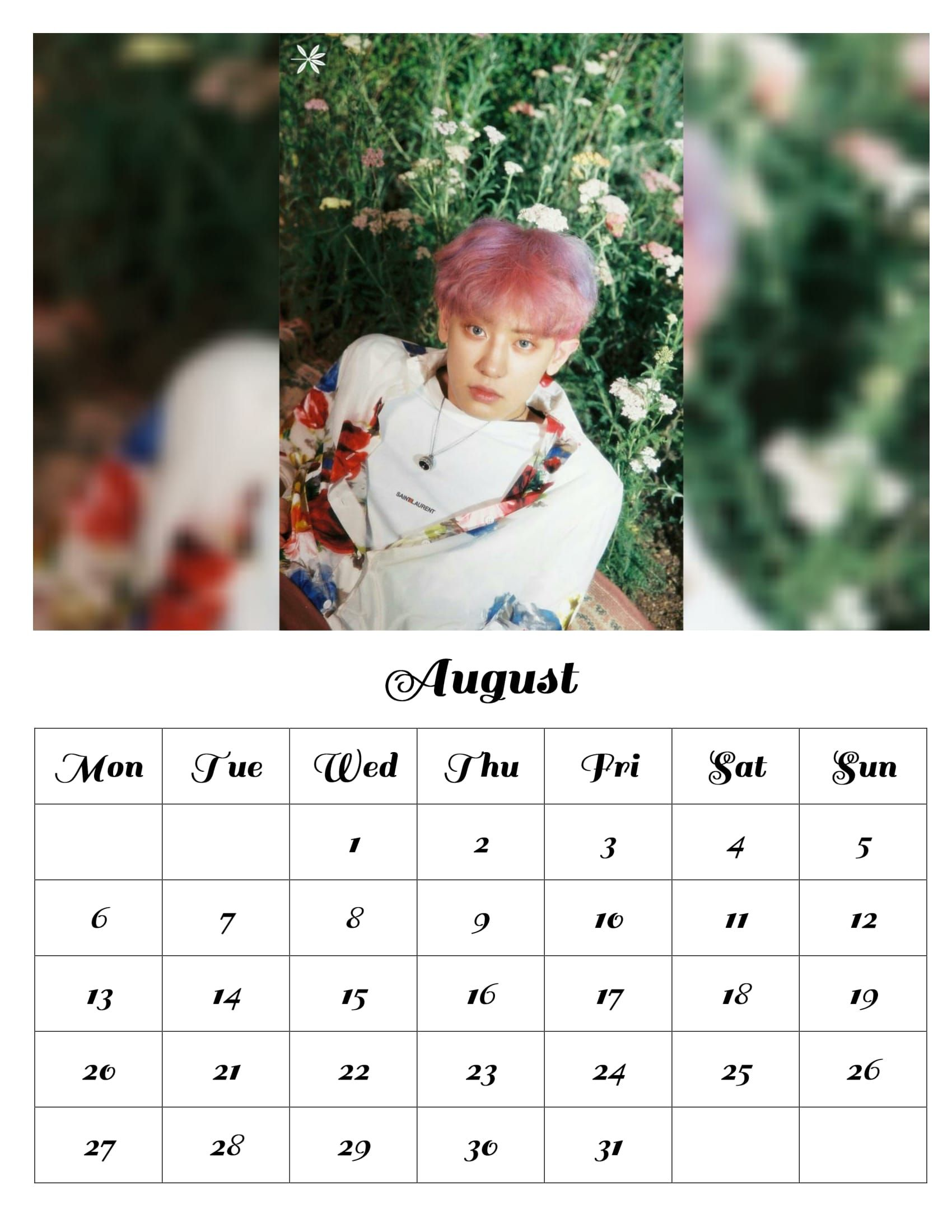 Apparel Accessories K-pop New Sehun Exo Sehun Surrounding Small Desktop Calendar 2018 Calendar Birthday Gift New Selected Material Men's Accessories