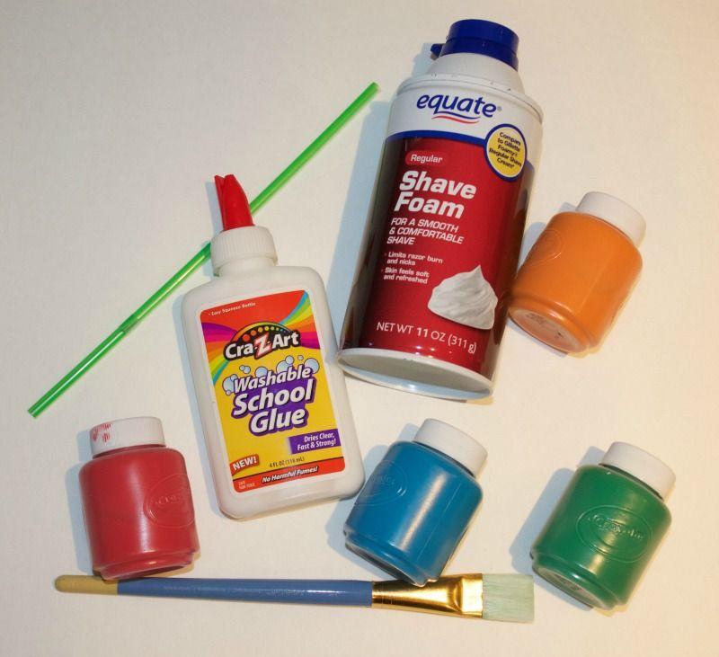 How to make shaving cream puffy paint shaving cream