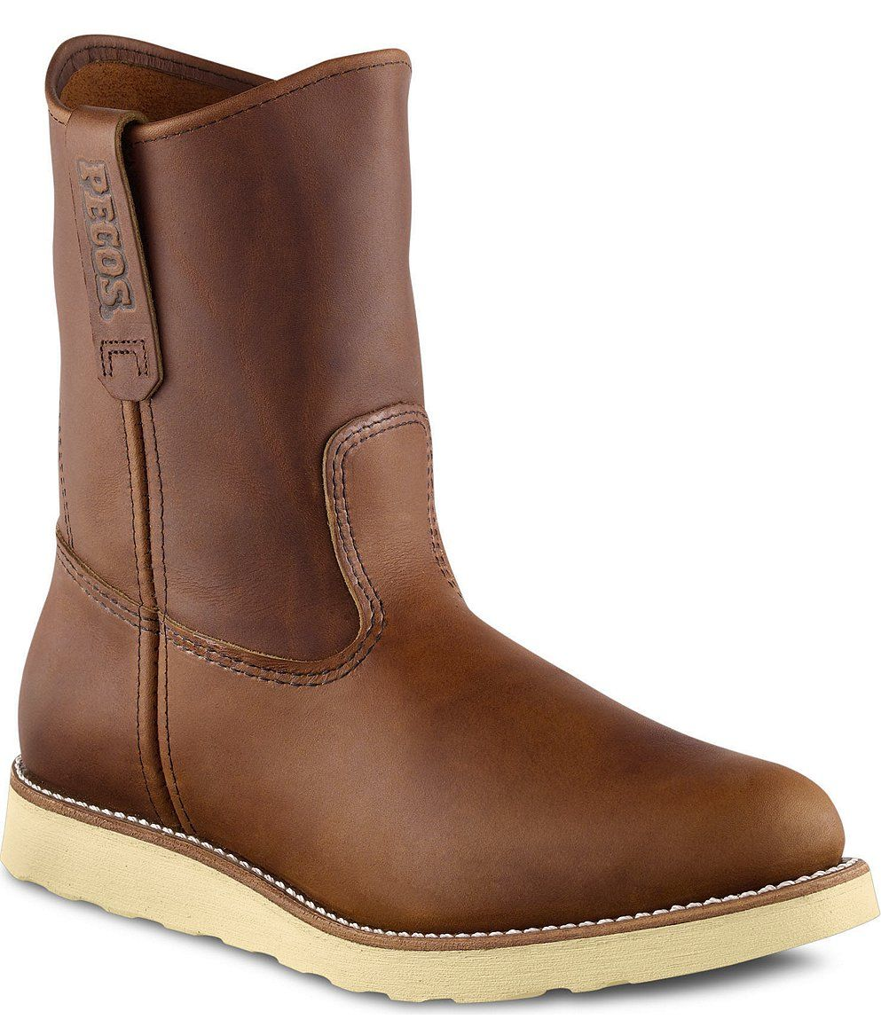 Red Wing Safety Boots - 866 Red Wing Men's - 9-inch Pull-On Boot ...
