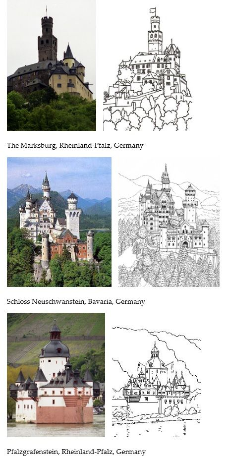 Printable Castle coloring pages Print for the kids to