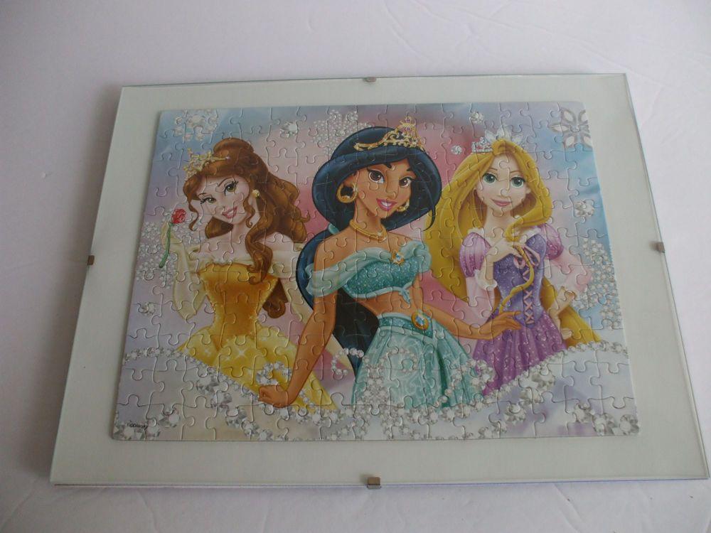 Disney Princesses Belle Jasmine And Rapunzel Framed Puzzle Wall Art ...