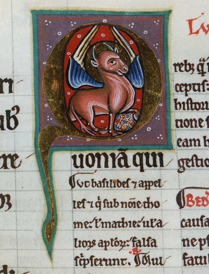 The Symbol Of Luke The Evangelist From Lucas Et Iohannes Glosati