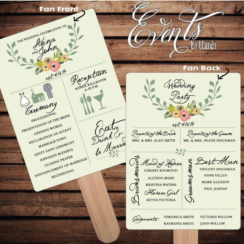 printed wedding programs