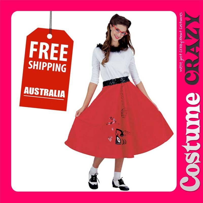 841b80432d20 50s Jitterbug Girl Grease Rock N Roll Jive Swing Fancy Dress Halloween  Costume | eBay