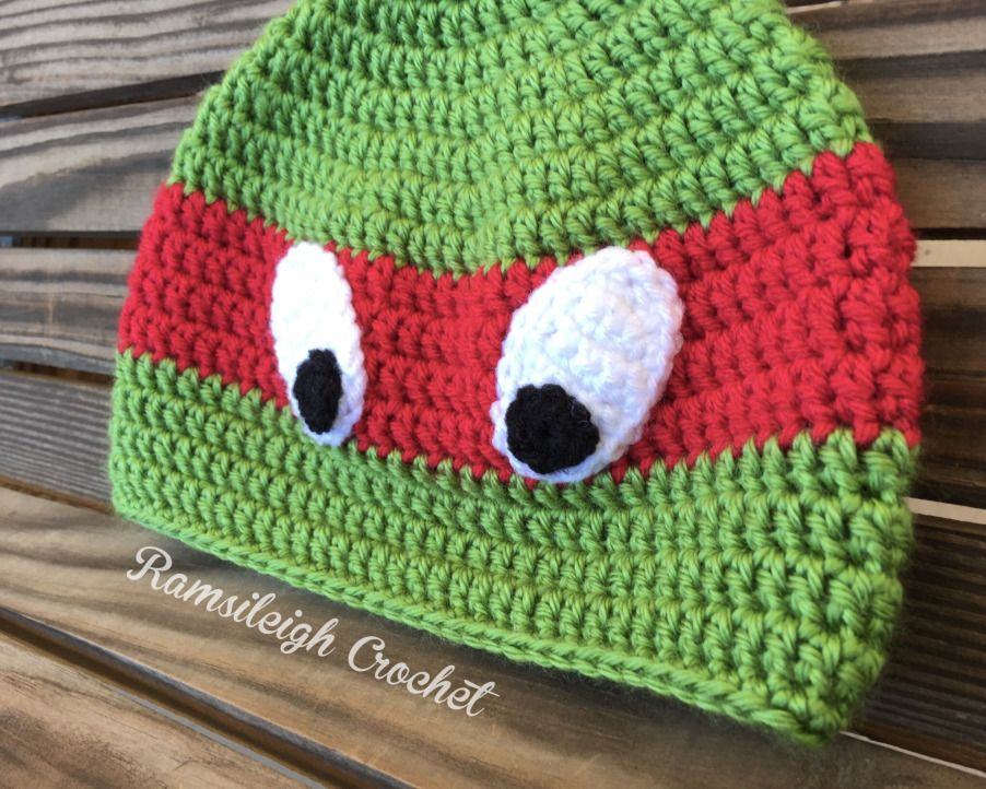 Ninja Turtle Hat {FREE PATTERN} | Crochet | Pinterest