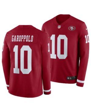 check out 1c1ec bea22 Nike Men Jimmy Garoppolo San Francisco 49ers Therma Jersey ...