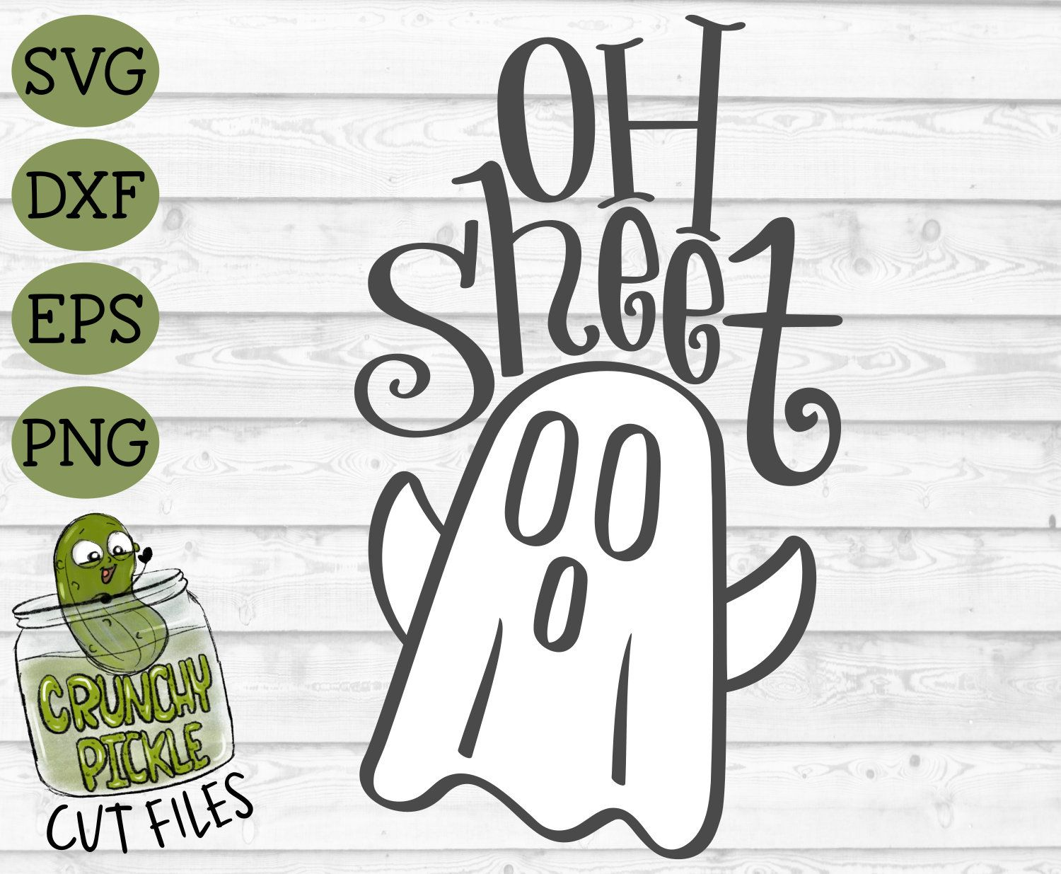 Oh Sheet Ghost svg dxf png Halloween October Funny Cute