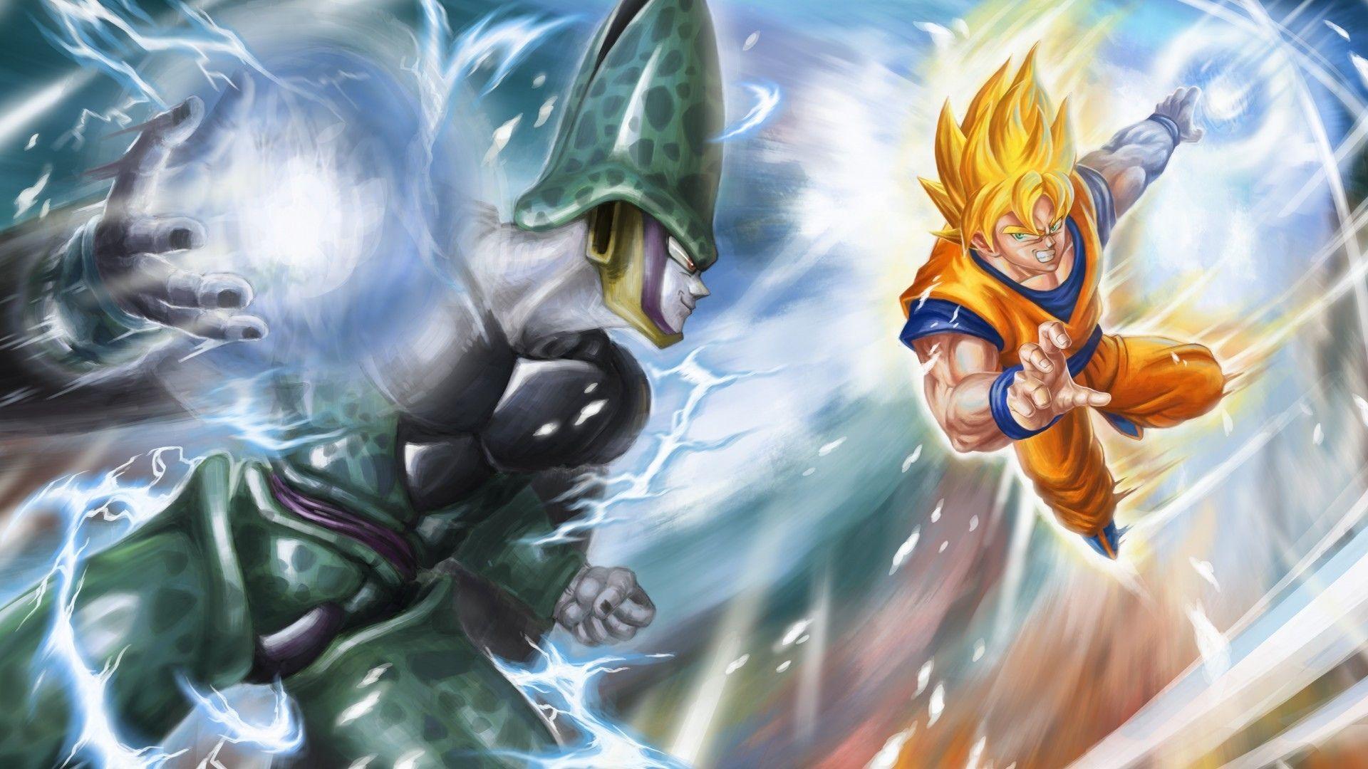 Anime Dragon Ball Z Goku Cell Dragon Ball Fondo De Pantalla Fondos De Pantalla Goku Personajes De Dragon Ball Dragones