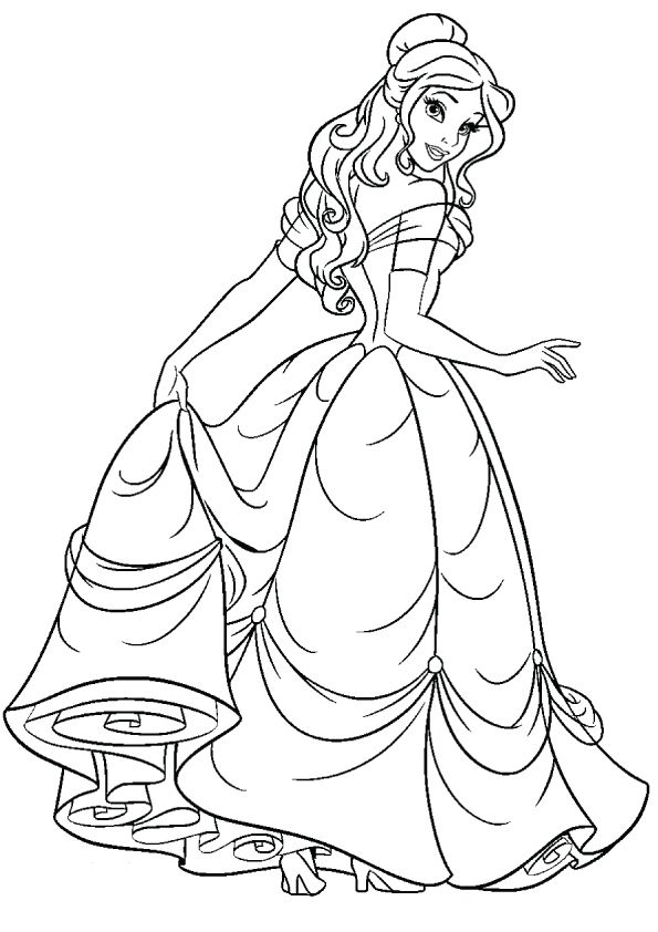 print coloring image MomJunction Belle coloring pages