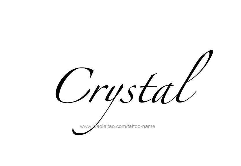 Crystal Name Tattoo Designs Name Tattoo Designs Name Tattoos Crystal Tattoo