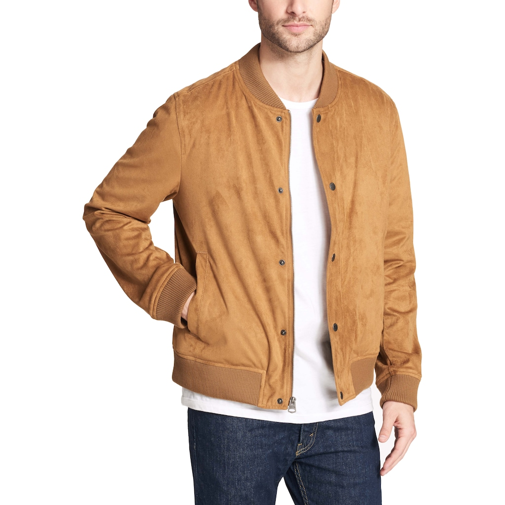47b459aac49 Men's Levi's Faux-Suede Varsity Bomber Jacket | Products | Baseball ...