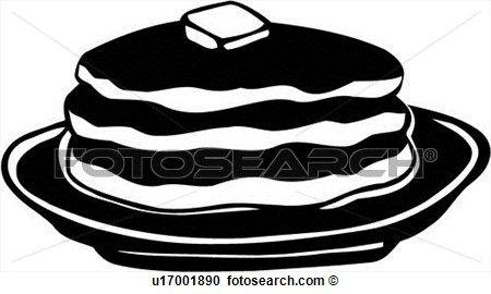 Pancake Logo Pancakes Clipart Clipart Black And White Black And White Google