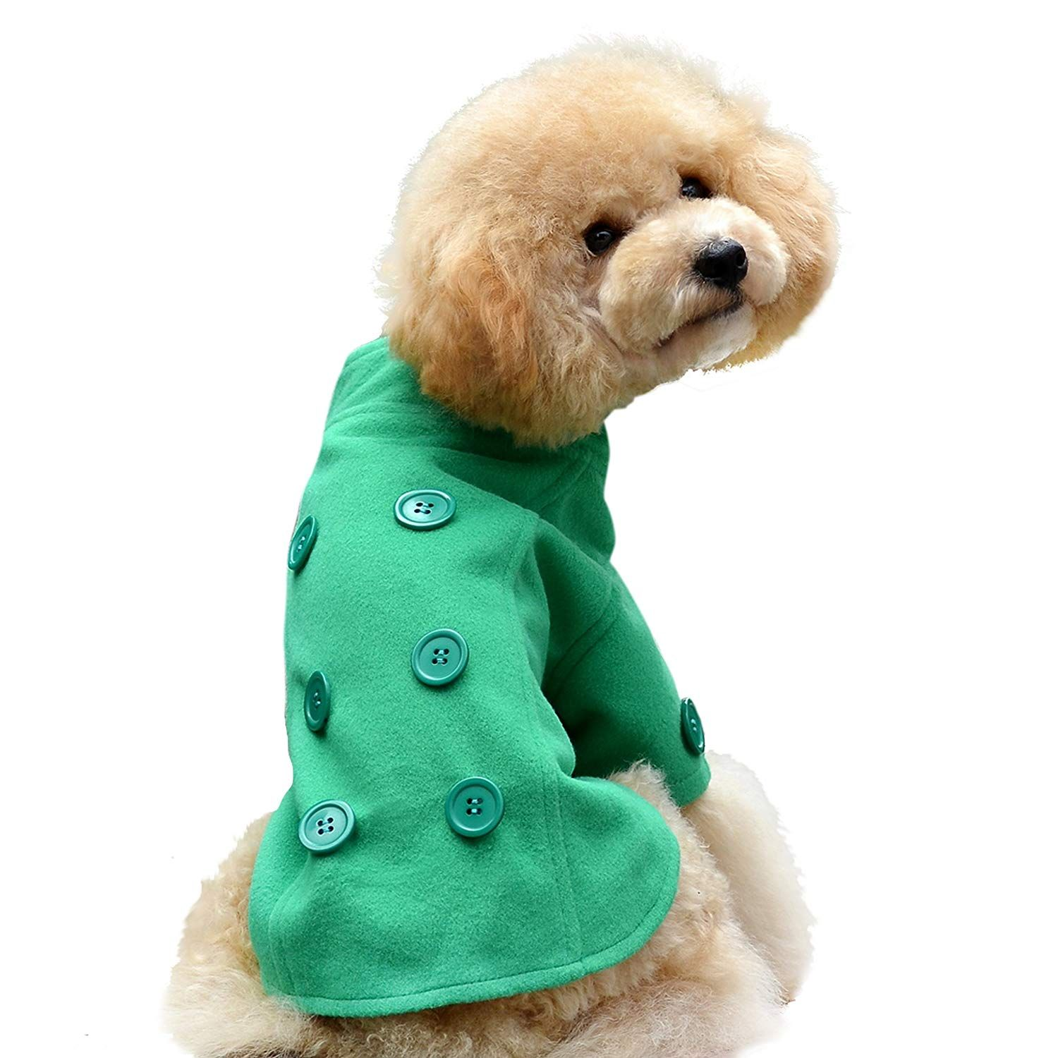 One Tail Four Paws Just The Peacoat Pet Coat Small Apple Green