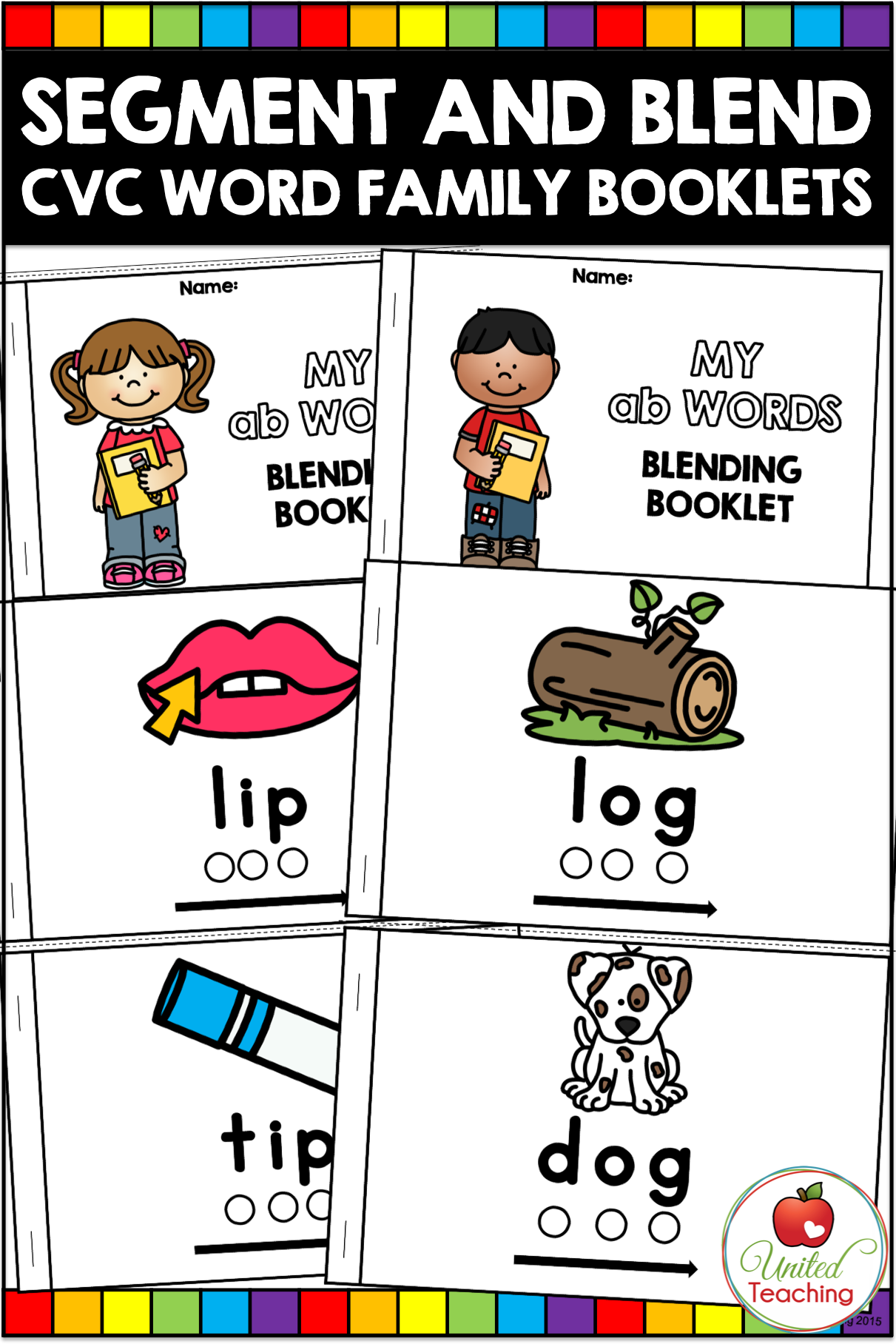 Cvc Words Segment And Blend Booklets