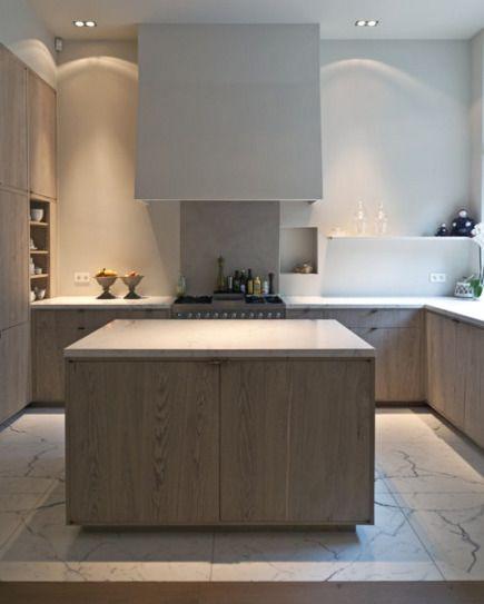 Modern Minimalist Kitchen Cabinets: Minimalist Limed Oak Kitchen Cabinets By AIDArchitecten In