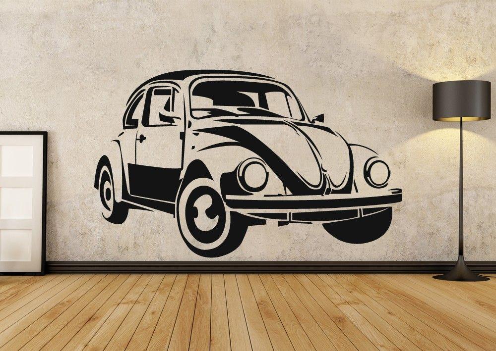 Vw Beetle Wall Art Sticker Wall Stickers Wall Art Stickkr Com Productos Innovadores Canas Personalizar