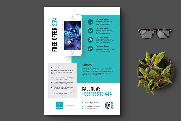Product Promotion Flyer Flyer template, Corporate branding and