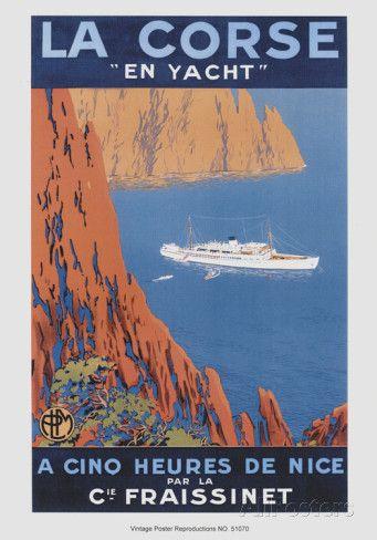 Nach Korsika mit der Yacht Kunstdruck von Hoock bei AllPosters.de