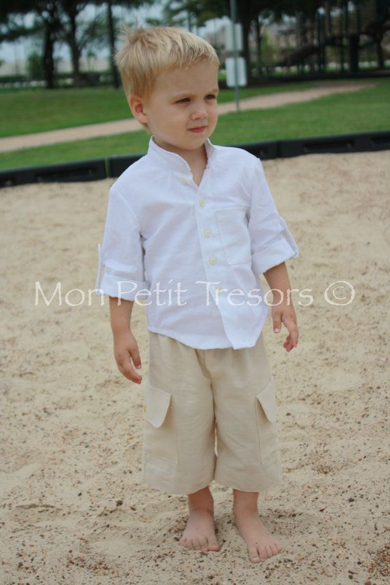 Boys Linen Shirt And Shorts Set Sizes 6 Months By Monpetittresors