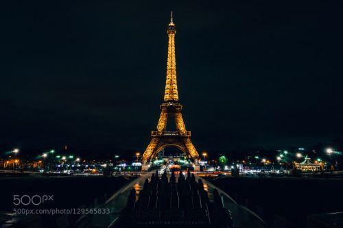 In blackest night by krio  kristianphotography architecture cityscape eiffel tower france landmark night nightscape paris touri