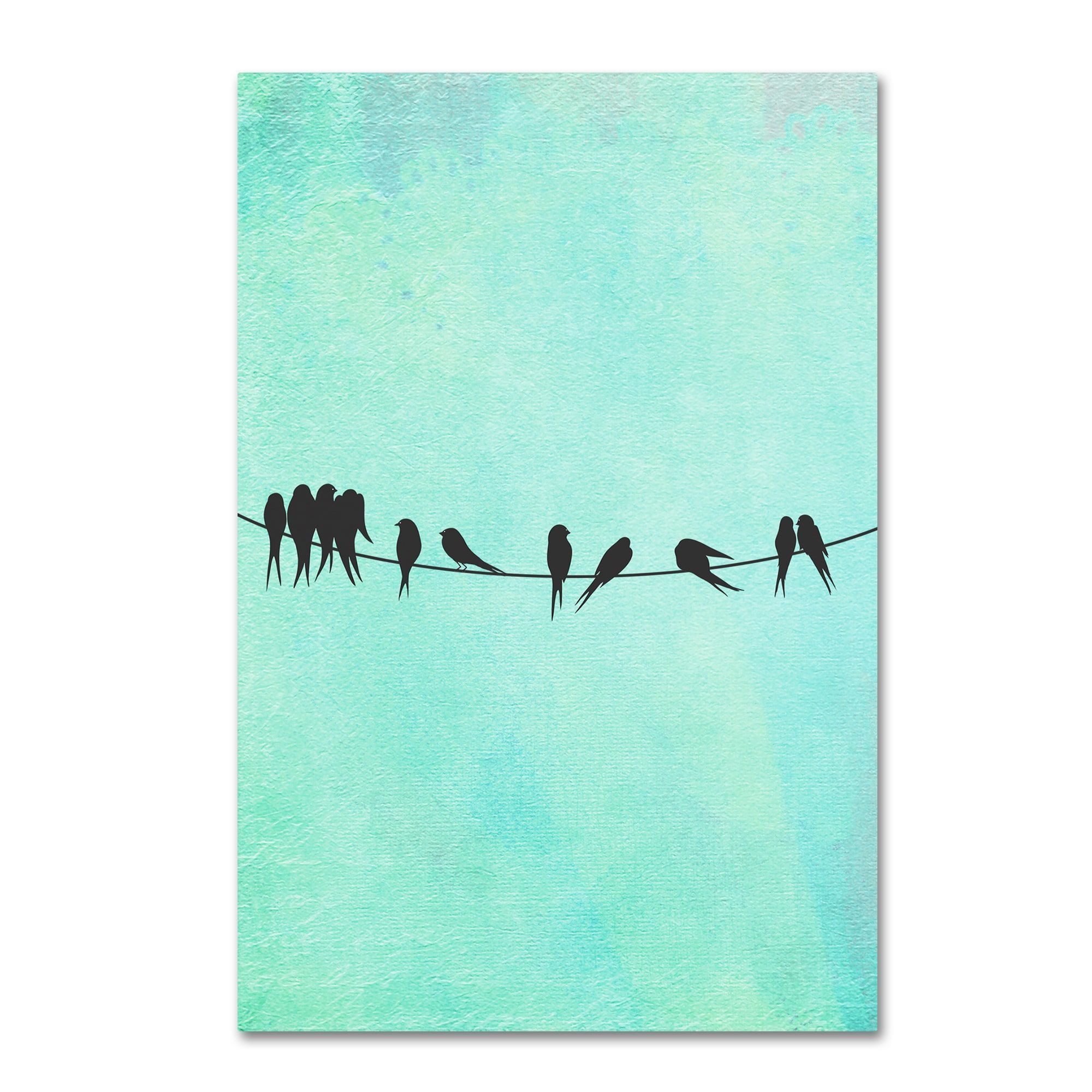 Tina Lavoie \'Birds On A Wire\' Canvas Art | Find My Art In Stores ...
