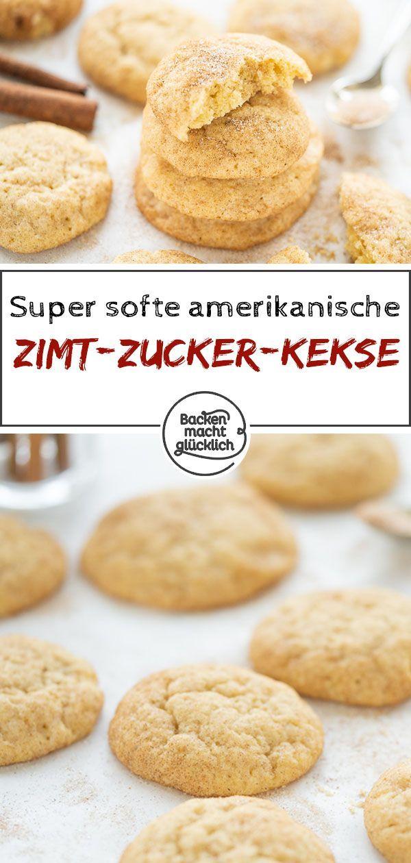 Schnelles Snickerdoodles Rezept | Backen macht glücklich #cinnamonsugarcookies