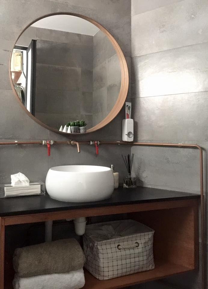Bathroom Drain Plumbing Minimalist industrial bathroom, copper pipe   baths   pinterest   minimalism