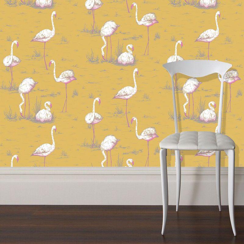 super papier peint flamant rose decoration papierpeint. Black Bedroom Furniture Sets. Home Design Ideas