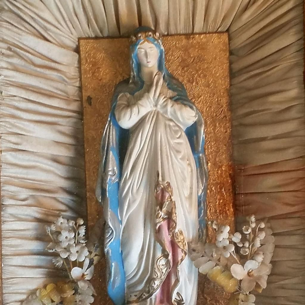 30% OFF - 3 Days Only! Sale starts Friday 9/23 ... Victorian Petition to the Blessed Virgin Shadowbox from vintagecatholic on Ruby Lane