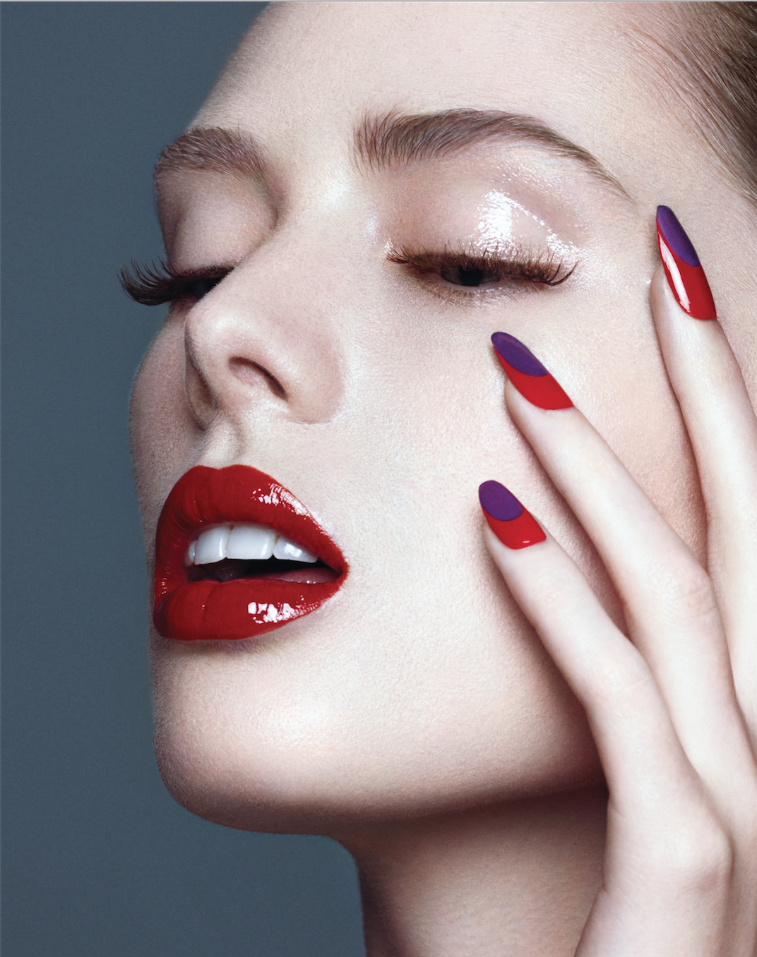 Hot Gloss beauty story for Dreamingless Magazine. Makeup