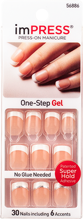 Impress Press On Manicure French Gel Accent Nails At Home Rock It Gel Nails French Impress Nails Gel French Manicure