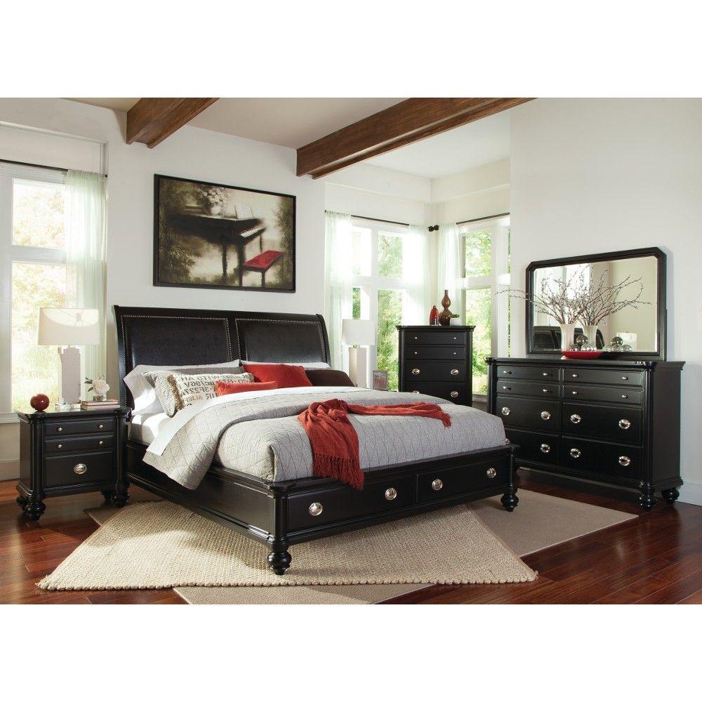 Denver Bedroom - Bed, Dresser & Mirror - Queen (652050 ...