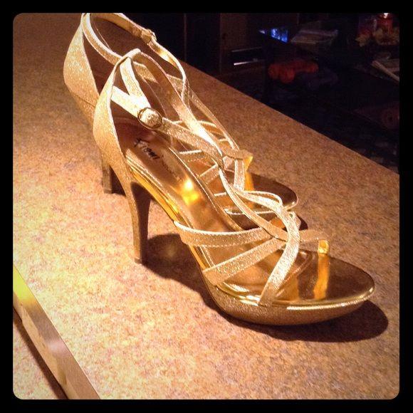 High heels Gold sparkly women's high heels Fioni Night Shoes Heels