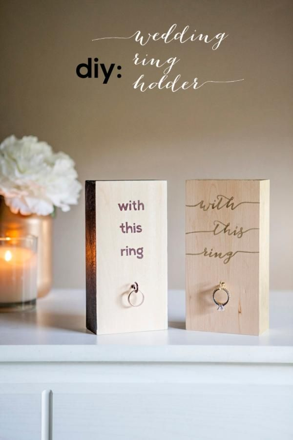 wood wedding card holders%0A Make your very own  wooden block  wedding ring holder