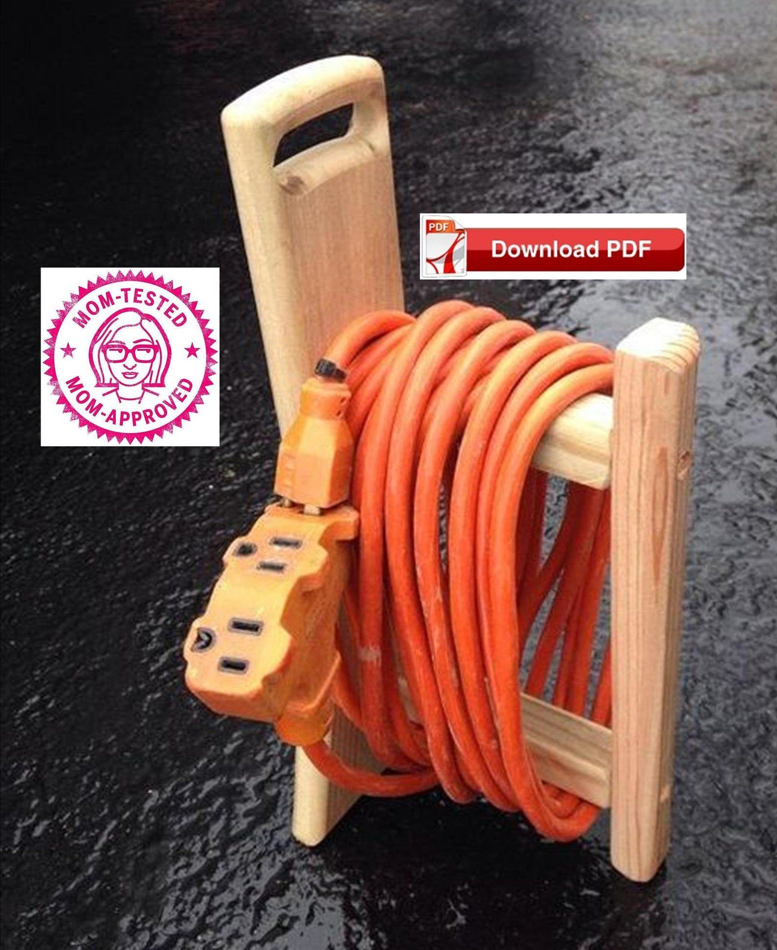 Extension cord caddy planextension cord holder plan
