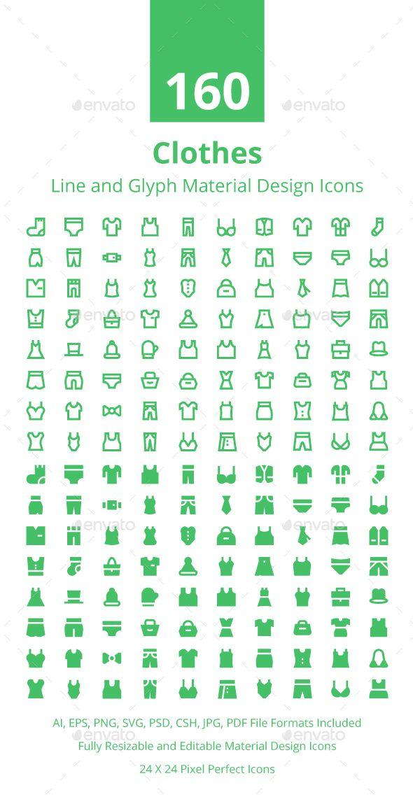 160 Clothes Material Design Icons Desain