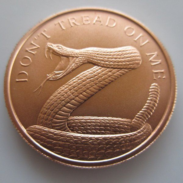 6 50 Don T Tread On Me 1 Oz 999 Pure Copper Coin Silver Shield Copper Coins Pure Copper Coins