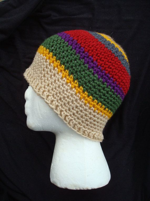 4th Doctor Who Scarf Inspired Crocheted Breanie by StarsSpikes ...