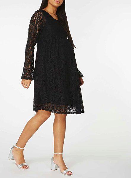 6e884ed1e7b Těhotenské černé šaty s rozšířenými rukávy Dorothy Perkins Sandy I  nastávající maminky rády chodí za kulturou - do divadla