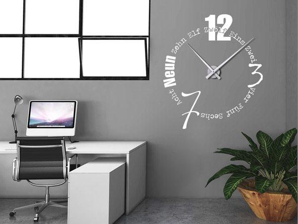 wandtattoos als gro e wanduhren moderne uhren mal anders einfache n gel wanduhren und uhrwerk. Black Bedroom Furniture Sets. Home Design Ideas