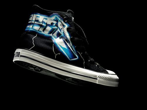 20f6580e777f08 Metallica~Ride the Lightening Converse Hi