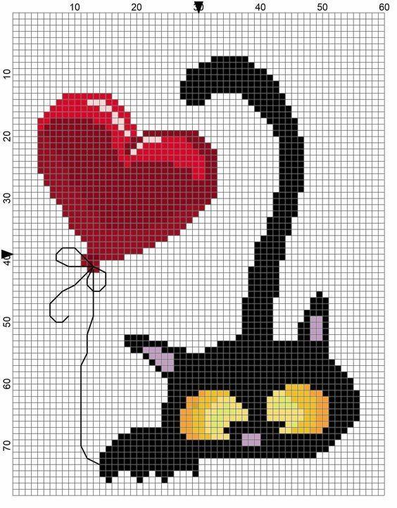 Photo of Cross Stitch (Etamine) Cat Templates- # templates #etamine #kanavi #kanavice #Cat # …