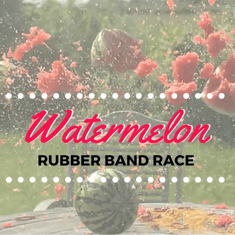 Watermelon Rubber Band Race - STUMINGAMES