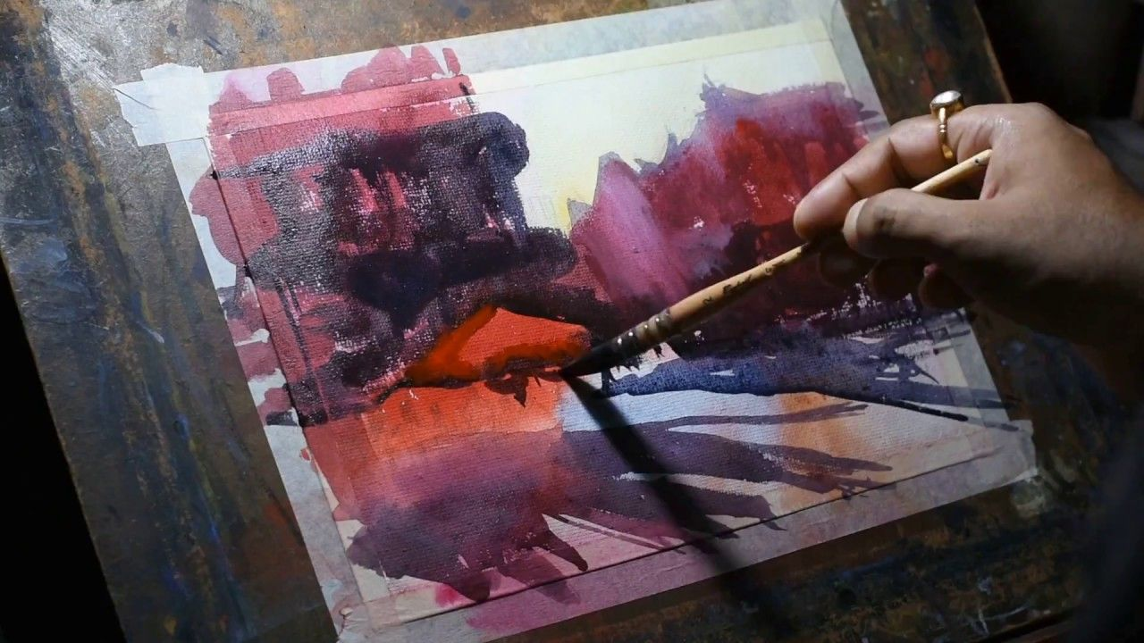 Inspired Of Alvaro Castagnet Watercolor Paintings Demo 4 Check